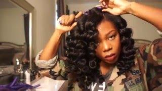 Big Voluminous Natural Hair Wand Curls!!