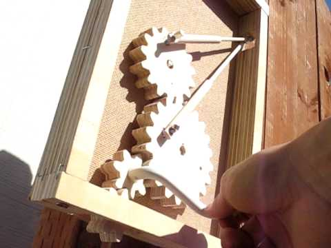 wooden gears kinetic sculpture