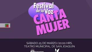 participa en el festival de la voz canta mujer 2017