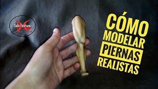 COMO MODELAR PIERNAS En PORCELANA FRÍA, How To Make Realistic Leg