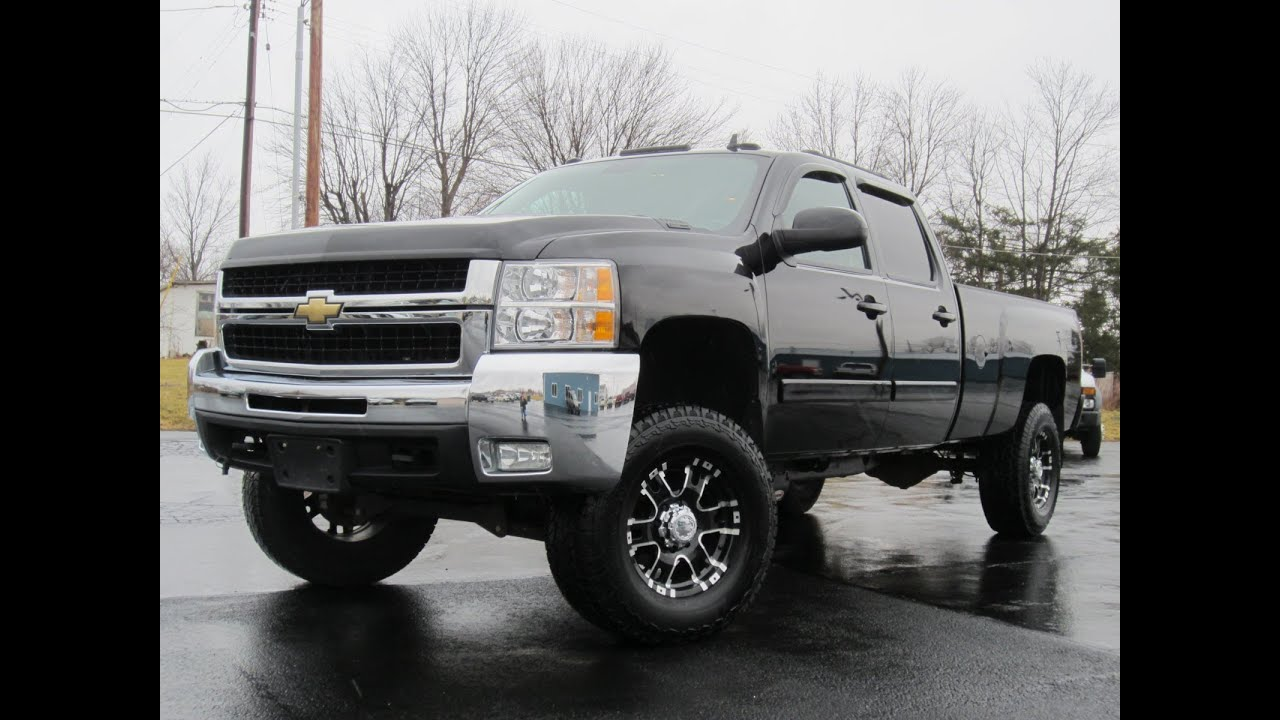 2008 Chevy 2500HD LTZ 4X4 LIFTED LONGBED DURAMAX LOADED ...