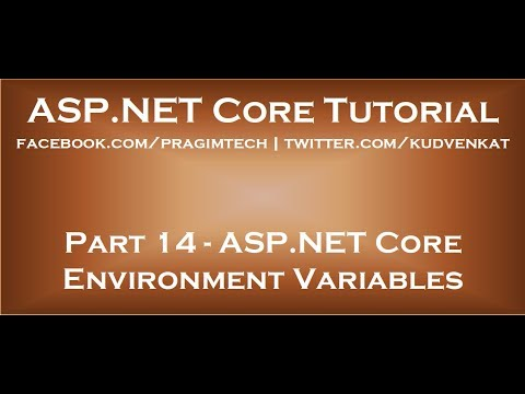 ASP NET Core environment variables