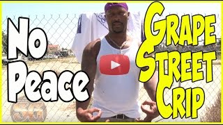 Grape Street Crip member says he is not with the peace at a peace celebration