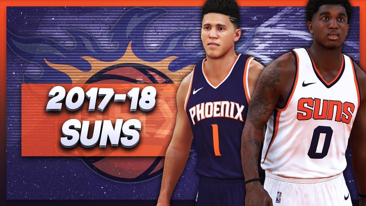 377df83e7 NBA 2K17 - 2017-18 Phoenix Suns Nike Jersey Tutorial - YouTube