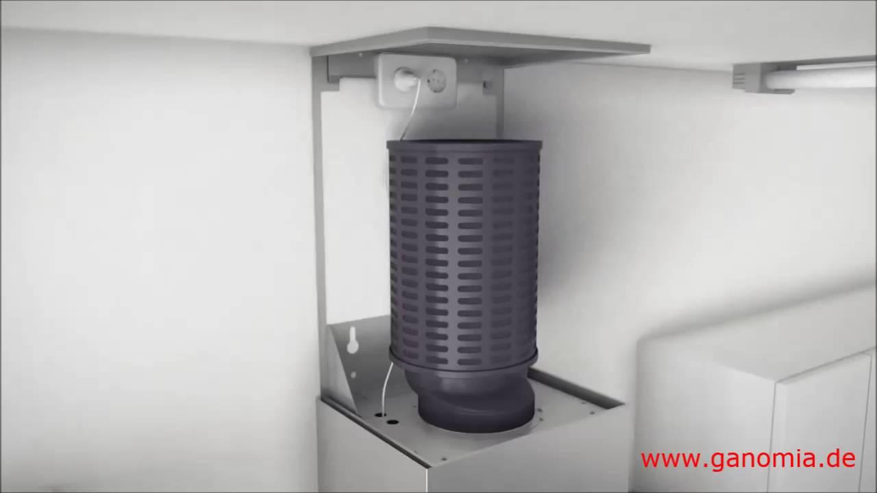 Plasma dunstabzugshaube ganomia rohrfrei geruchsfreie küchenabluft