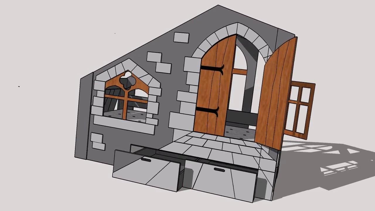lit cabane ch teau abra ma youtube. Black Bedroom Furniture Sets. Home Design Ideas