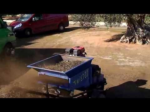 cernitrice / defogliatrice per olive Twister Agrimaglie.avi