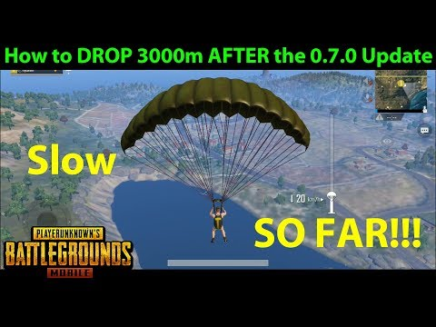 How to DROP 3000M in PUBG Mobile 0.7.0 - JUMP SO FAR!!! (Slo