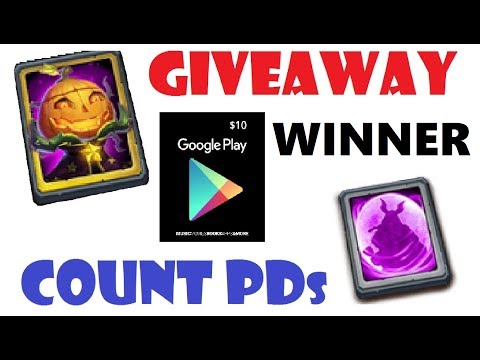 WINNER Of Google Play Card For Counting Pumpkin Dukes Castle Clash