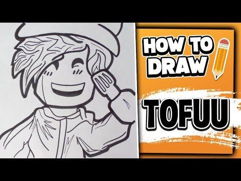 How To Draw TOFUU – Youtubers Drawings // Lexton Art