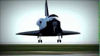 F-Sim Space Shuttle - Landing at KSC Airport (Perfect Landing)