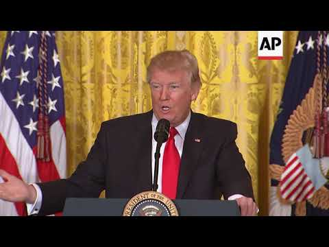 USA - Russia aimed to influence US election / Trump signs executive orders in Oval Office / Trump Se