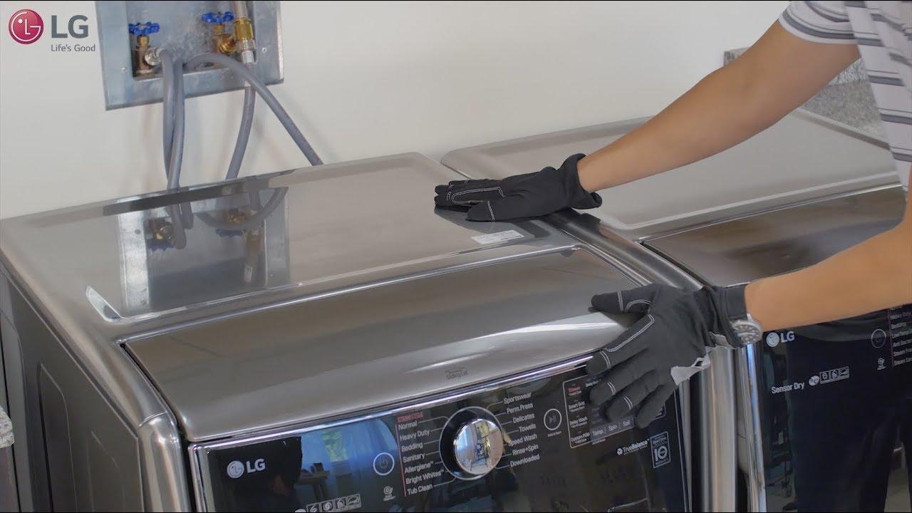 Lg Front Load Washing Machine How To Reduce Vibration Youtube