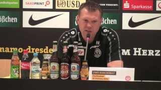 FortunaTV - Die Pressekonferenz nach dem Remis bei Dynamo Dresden