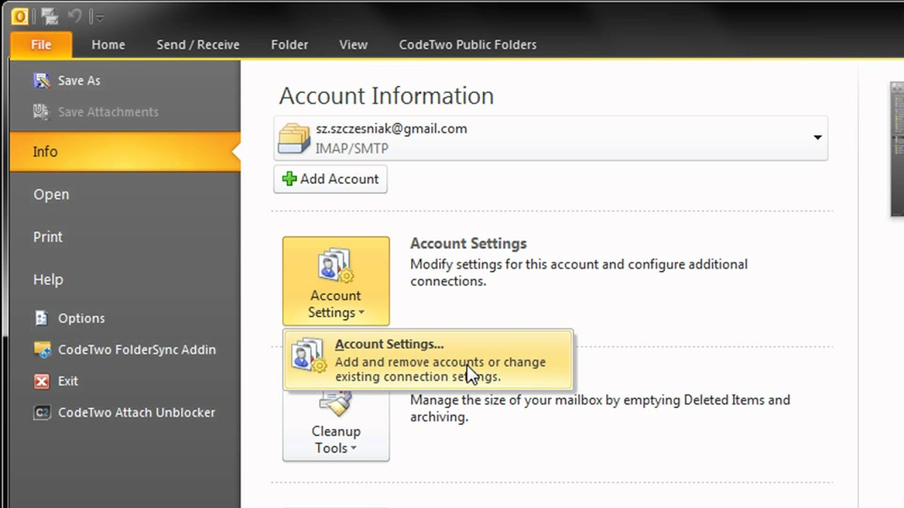 How To Remove Email Accounts In Outlook 2010 And 2013