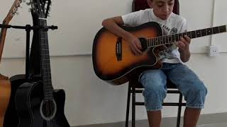 (The Eagles)  Hotel California Solo by Ayxan(with acustic guitar)