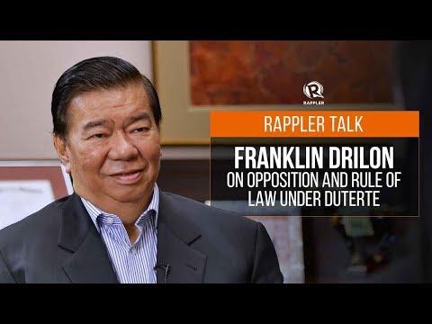Rappler Talk: Franklin Drilon on opposition and rule of law under Duterte