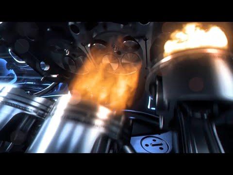 Cómo es el MOTOR SPORT AMG GT Bi-Turbo 4 Litros V8 en detalle de animación.