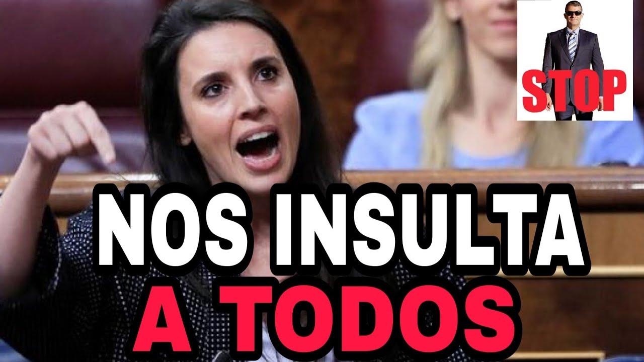 IRENE MONTERO DESPRECIA A TODOS LOS HOMBRES ESPAÑOLES EN EL CONGRESO.