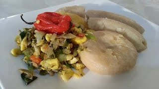 Ackee & Salt-fish With A Little Twist Served With Banana, Dumpling  Black History Month Recipe