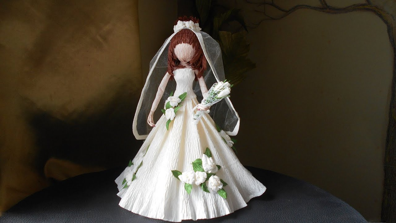 """Кукла """"Невеста"""" из гофрированной бумаги. Doll """"Bride"""" from ..."""