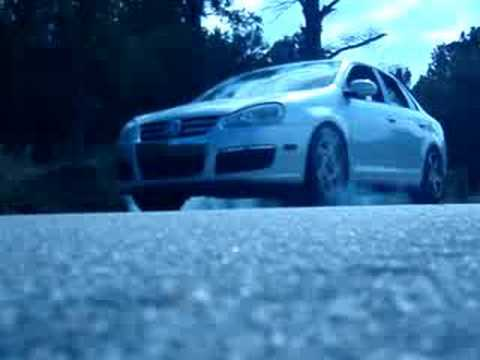 Jetta on Subaru SVX Wheels rolling burnout