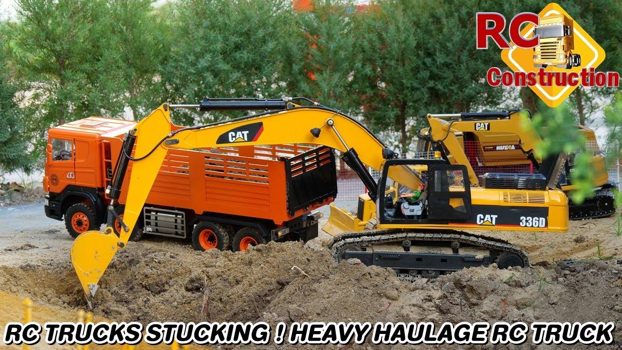 RC TRUCKS STUCKING ! HEAVY HAULAGE RC TRUCK/สนามRCสุขสวัสดิ์30/RC Construction