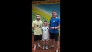 Тренування юного воротаря /  Training a young goalkeeper