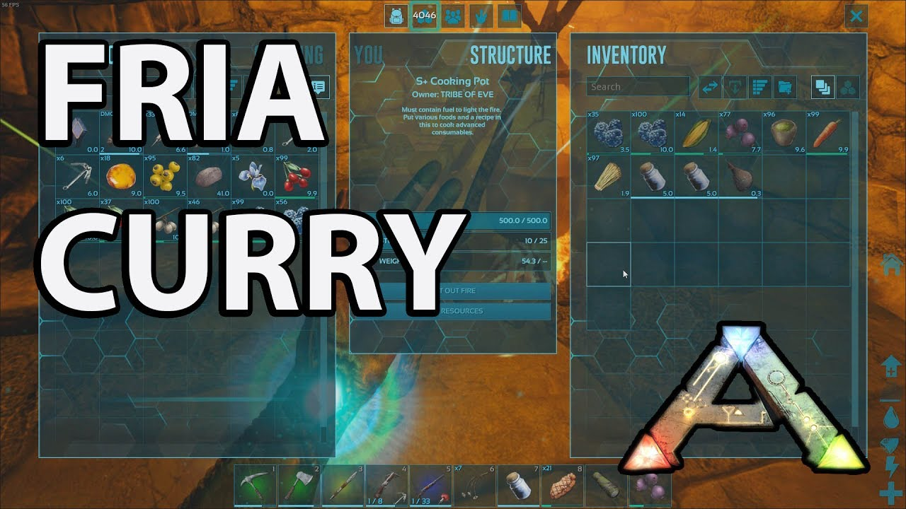 Fria Curry How To Craft Ark Survival Evolved Youtube