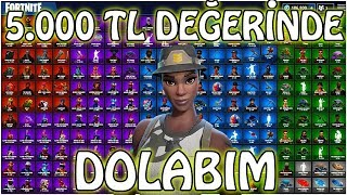 $5,000 WORTH of LOCKER (Skinlerim and my bags) | Fortnite Locker Turkish
