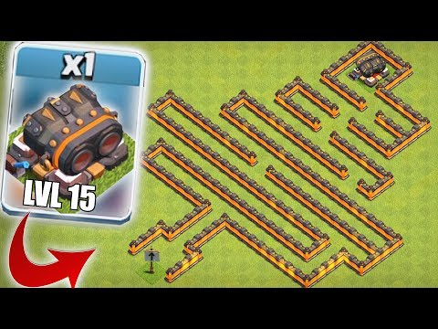STILL UNDEFEATED!! | CLASH OF CLANS | LVL 15 CANNON MAZE BASE!!