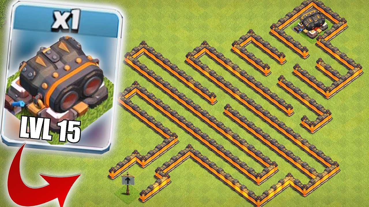 still undefeated clash of clans lvl 15 cannon maze base