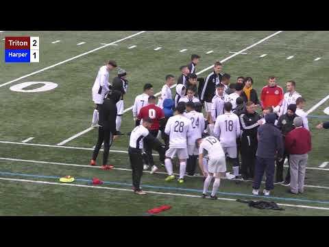 Triton College Men's Soccer vs Harper 10/26/19 - Region IV Finals