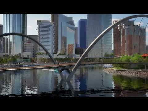 Flythrough of Perth's future Elizabeth Quay