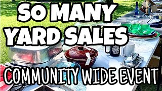 THRIFT WITH US * COMMUNITY WIDE YARD SALE EVENT * SO MANY GARAGE SALES * THRIFTING IN THE COUNTRY *