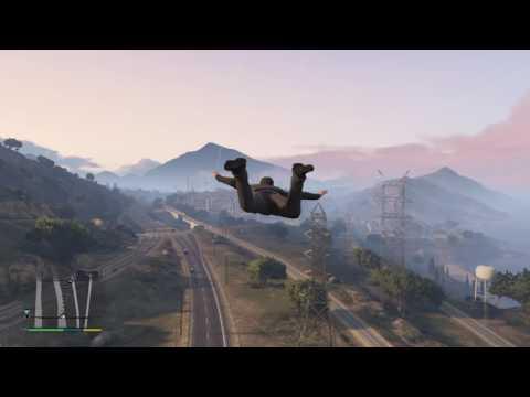 Grand Theft Auto V skyfall glide cheat No Parachute!