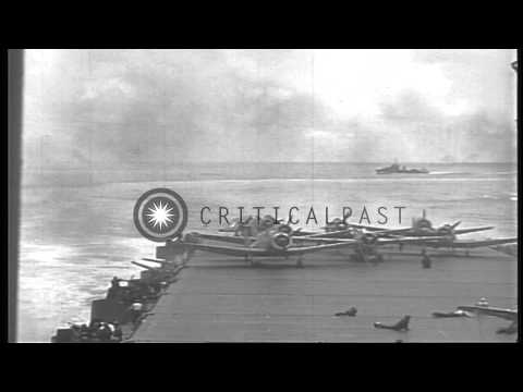 The USS Enterprise (CV-6) under attack during the Battle of Santa Cruz in World W...HD Stock Footage
