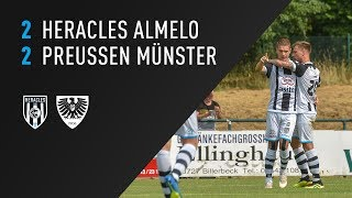 Heracles Almelo - Preussen Münster 2-2 | 21-07-2018 | Samenvatting