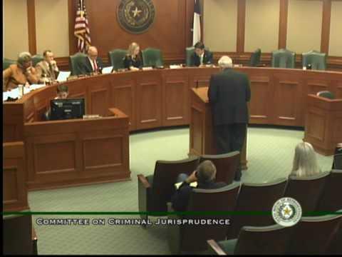 William Martin Testifies before the Texas House Committee on Criminal Jurisprudence