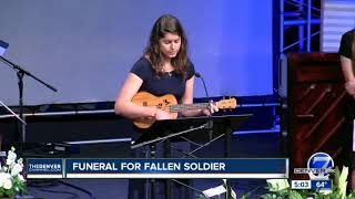 Funeral held for fallen solider Gabriel Conde of Loveland