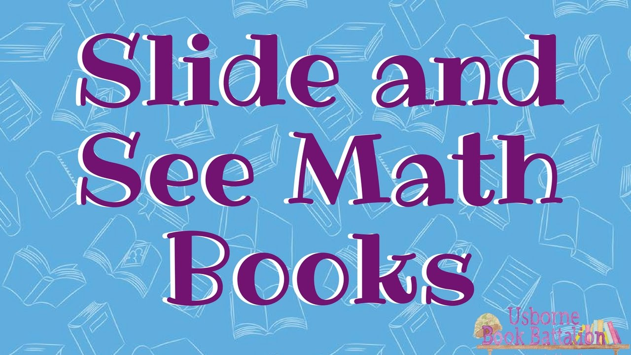 usborne slide and see math books youtube