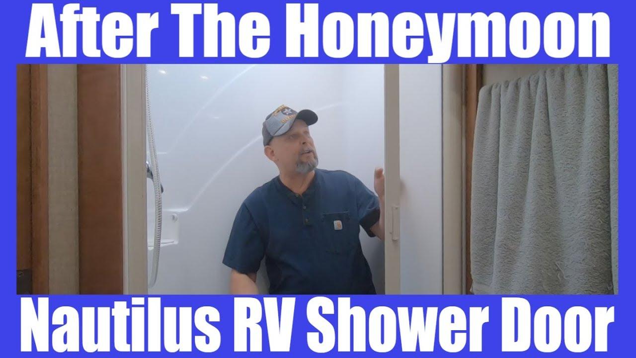 after the honeymoon nautilus sliding rv shower door