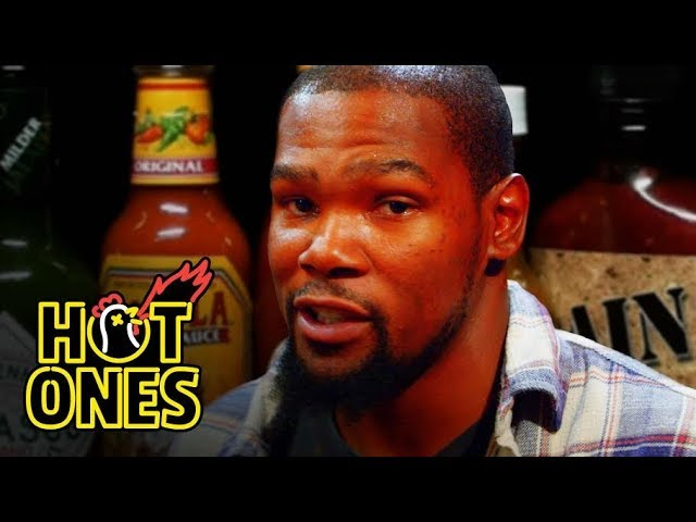 Kevin Durant Sweats It Out Over Spicy Wings   Hot Ones