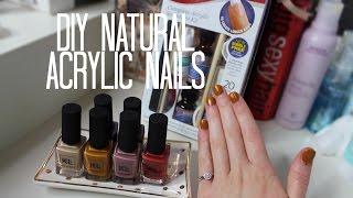 DIY Natural Acrylic Nails | Kiss Acrylic Nail Kit & KL Polish!