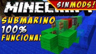 SUBMARINO 100% FUNCIONAL SIN MODS!! En Minecraft Vanilla 1.8