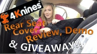 4knines Rear Seat Cover Review, Demo & Giveaway!! (open)