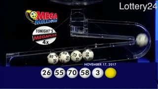 2017 11 17 Mega Millions Numbers and draw results