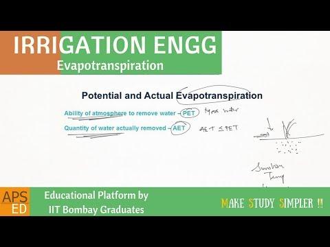 Evapotranspiration | Irrigation Engineering
