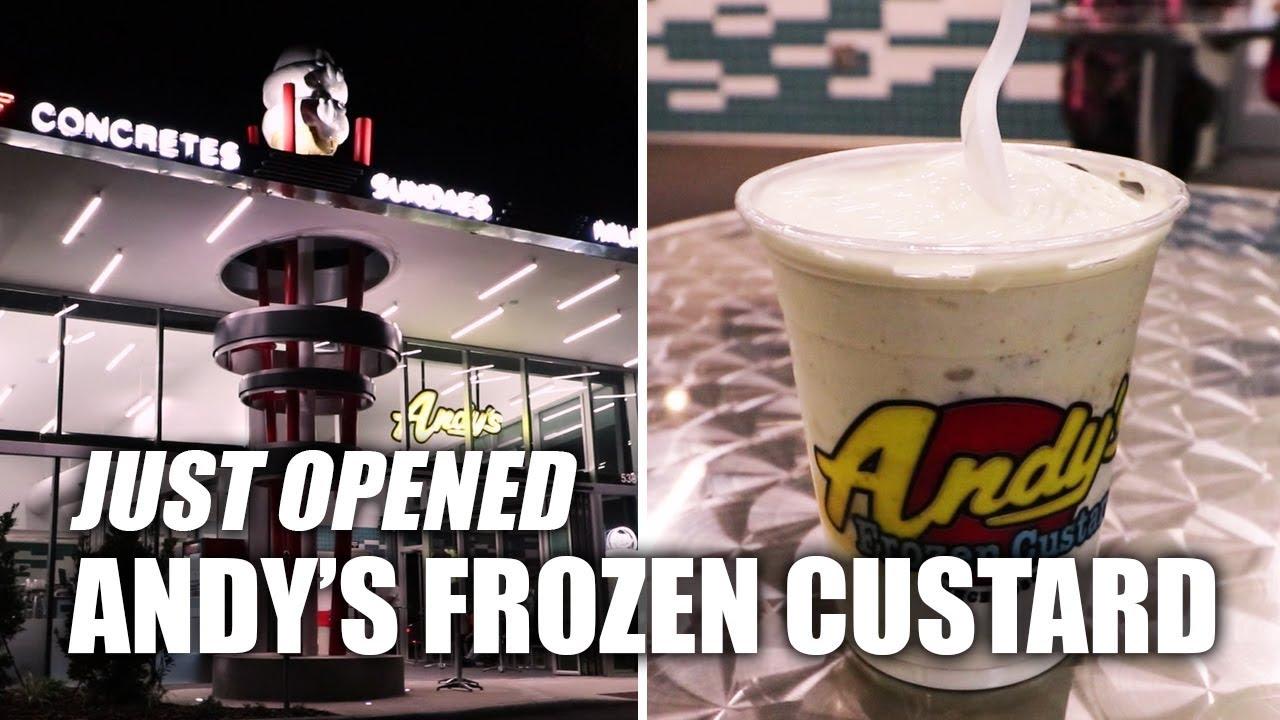 Trying Andy's Frozen Custard on International Drive | Orlando Florida