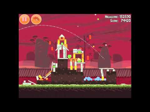 Angry Birds Seasons Year of the Dragon 1-6 Walkthrough 2012 3 Star